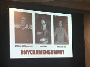 "NYC Ramen Summit with Ivan Orkin, Shigetoshi ""Jack"" Nakamura, and Kenshiro Uki at Anime NYC 2017"