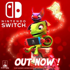 The Tag-Team Duo is Back! Yooka-Laylee Out Now on Nintendo Switch!