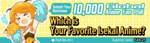 [10,000 Global Anime Fan Poll Results!] Which Isekai Anime Is Your Favorite?