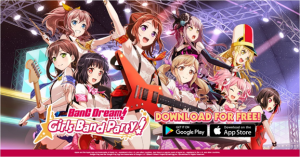 "English Version of Popular Rhythm Game ""BanG Dream! Girls Band Party!"" Now on iOS & Android"