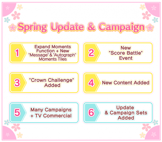 "Update-UtaPri-Spring-560x237 Brand New Spring Campaign for ""Utano☆Princesama Shining Live"" Officially Kicks Off!"