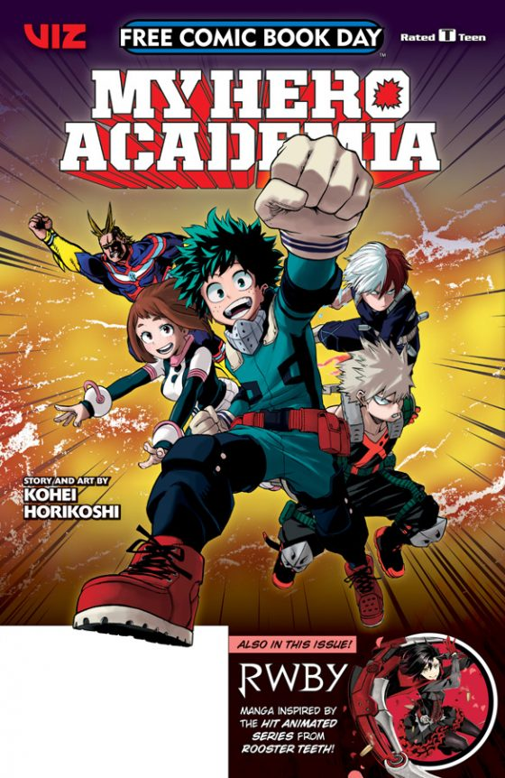 FCBD18-MyHeroAcademia-RWBY-560x862 VIZ Media Supports FREE COMIC BOOK DAY 2018 With 2 Manga Samplers
