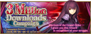 Fate/Grand Order Celebrates 3 Million Downloads!