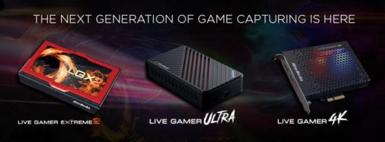 AverMedia-cards-560x207 AVerMedia Launches Live Gamer 4K and Live Gamer ULTRA, First Consumer Capture Cards to Enable 4K HDR Game Streaming