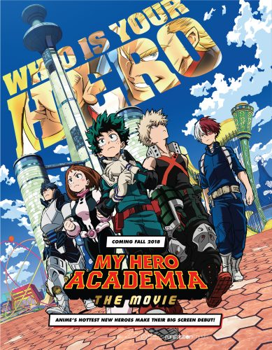 "MHA_Movie_8.5x11-Fall-Poster-389x500 FUNIMATION FILMS AND TOHO ANNOUNCE WORLD PREMIERE OF ""MY HERO ACADEMIA: TWO HEROES"""