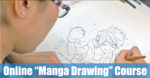 "English version for ""Manga Drawing / Comprehensive Course"" will be Available via MANABI JOURNEY"
