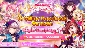 "Mobile Game ""BanG Dream! Girls Band Party!"" Achieves 10 Million Downloads Worldwide!"