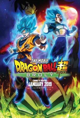 Dragon-Ball-Super-Broly-Key-Art-338x500 Funimation Acquires New Dragon Ball Super Movie for Theatrical Distribution January 2019 in U.S. and Canada