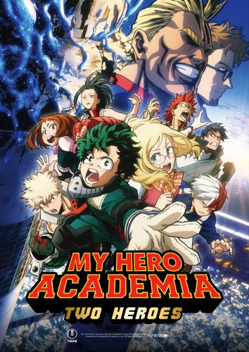 """My-Hero-Academia_Two-Heroes-Key-Art-ENGLISH-LOGO-354x500 """"My Hero Academia: Two Heroes Makes its Heroic Appearance in Theaters September 25th in NA!"""