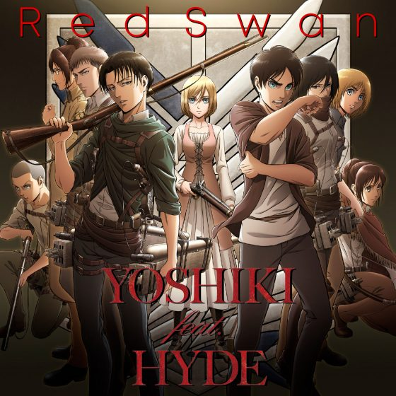 "RMMS-Yoshiki-feat-Hyde-Attack-on-Titan-Red-Swan-promo1-560x560 ""Red Swan"", el opening de Attack on Titan 3, ¡ya disponible en Spotify y Apple Music!"