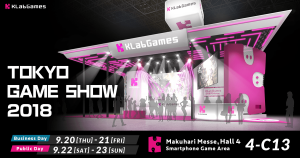 KLabGames is getting Revved up for Tokyo Game Show 2018 with a FULL Schedule and Events!