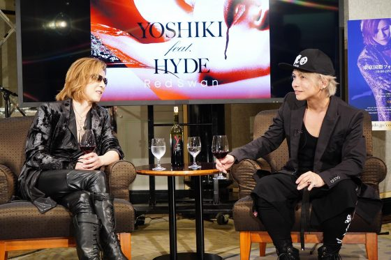 "RMMS-Yoshiki-Hyde-Red-Swan-Music-Station-20180917-M-jacketAOT-560x560 YOSHIKI and HYDE premiere full version of Attack on Titan theme ""Red Swan"""