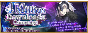 Fate/Grand Order's English Version Celebrates 4 Million Downloads!