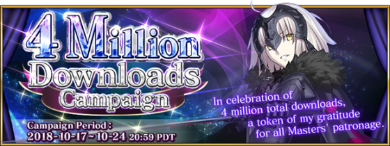 Fate-Grand-Order-4-Mil-560x210 Fate/Grand Order's English Version Celebrates 4 Million Downloads!
