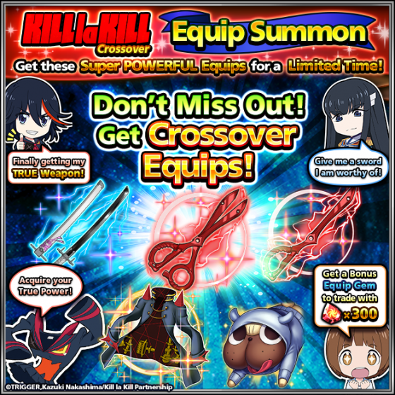 Kill-la-Kill-Crossover-SS-1-560x299 The Action Begins! KILL la KILL Invades Grand Summoners?! KLK Units & MORE in AMAZING Crossover!