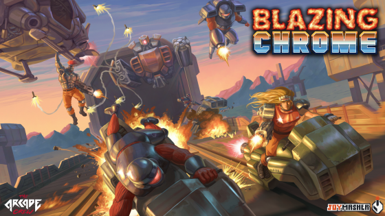 Blazing-Chrome-Key-art-2-560x315 Blazing Chrome Channels Classic Arcade Action on Nintendo Switch, PlayStation 4, PC in Early 2019