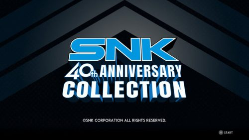 SNK-40th-Anniversary-Collection-Logo-500x281 SNK 40th Anniversary Collection - Nintendo Switch Review