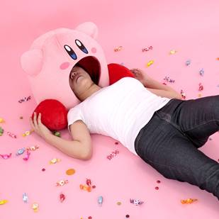 "Kirby-Plushy-SS1 This Kirby Plushy Sucks you Right in as you Sleep! Pre-Orders Available for ""SUIKOMI Kirby"""