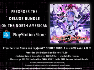 Death end re;Quest Deluxe Bundle Preorder Now Available in North America on the PlayStation Network!