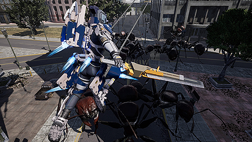 "edf-iron-rain_ss_07 More New Details Released for EARTH DEFENSE FORCE: IRON RAIN! ""PA Gear + Support Bug ""G-L.I.A.R."""