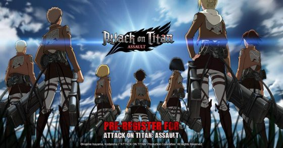 Attack-on-Titan-mobile-game-560x293 Pre-Registation for Mobile Title, Attack on Titan: Assault, is Now Live!