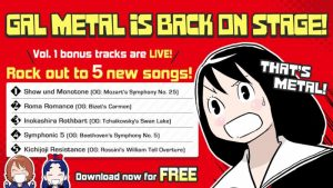 Rhythm Rocker Gal Metal Releases 5 Free DLC Tracks, 5 More to Release Later