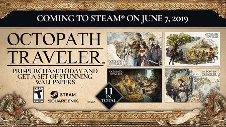 Octopath-PC-Logo Pre-Orders Now Live for Octopath Traveler on Steam
