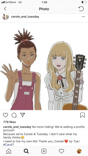 carol-tuesday-official-instagram-before-after CAROLE & TUESDAY: Anime Girls with a REAL Instagram Account?
