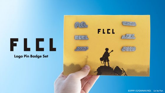 FLCL-Writing-560x315 Pin Badges of All Six FLCL OVA Title Logos! Pre-orders for the FLCL Logo Pin Badge Set Have Begun!