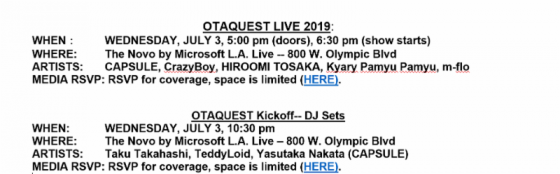 Otaquest-live-Logo-1-560x293 Otaquest Brings Vibrant Japanese Music, Dance And Club Culture To Los Angeles, Wed. July 3 At the Novo At L.A. Live