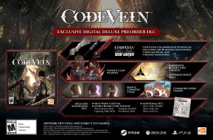 CODE VEIN Digital Deluxe Edition Now Available for Pre-Order