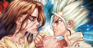Dr.-STONE-Wallpaper-700x280 Dr. Stone Review – Reinventing the Wheel Times 100 billion!