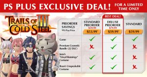 Trails of Cold Steel III - Digital Deluxe Edition Available for Preorder Now!