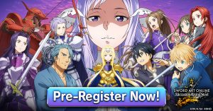 Pre-Registration Now Open for SWORD ART ONLINE Alicization Rising Steel