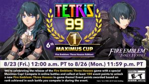 Tetris 99 6th MAXIMUS CUP event Features a BRAND NEW Fire Emblem: Three Houses Theme to Win!