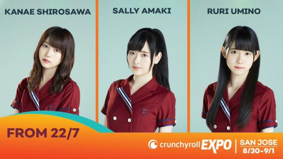 22-7-Crunchyroll-Expo-560x315 [Honey's Anime Interview] Sally Amaki (voice of Sakura Fujima), Kanae Shirosawa (voice of Akane Maruyama) and Ruri Umino (voice of Jun Toda) of Nanabun no Nijyuuni (22/7) from Crunchyroll Expo 2019