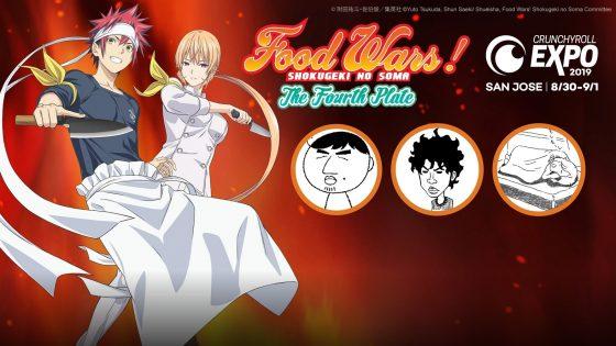 """Food-Wars-Shokugeki-no-Soma-Crunchyroll-Expo-2019-560x315 [Honey's Anime Interview] Yuto Tsukuda, Shun Saeki (manga artists), and Noriko Dohi (anime producer) of """"Food Wars! Shokugeki no Soma"""""""