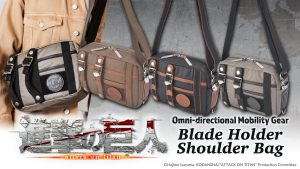 Pre-orders now open for 3 new Attack on Titan Omni-directional Mobility Gear Bags!