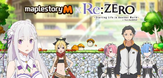 MSM-97-191010-Re-zero-x-MSM-crosspromo-1280x614-560x269 First-Ever MapleStory M Crossover Arrives Today with Popular Anime Series Re:ZERO!