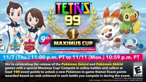 Pokémon Sword and Pokémon Shield come to Tetris 99!