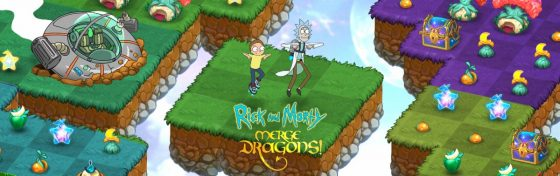 Rick-and-Morty-SS-1-560x176 Rick and Morty Get Schwifty in Zynga's Hit Game, Merge Dragons!