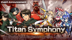 Bushiroad and Pokelabo announce Attack on Titan crossover in Symphogear XD UNLIMITED Global Version