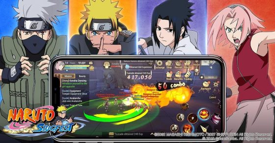 Naruto-Slugfest-SS-3-560x293 First Naruto 3D Open World Mobile MMORPG Revealed - Naruto: Slugfest!