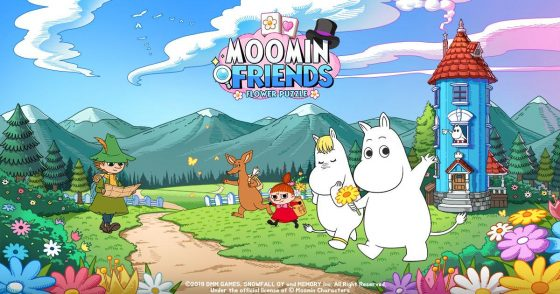 """Moomin-Friends-SS-1-560x294 DMM GAMES Moomin's """"Puzzle Game"""" """"Moomin Friends"""" Released Globally!"""