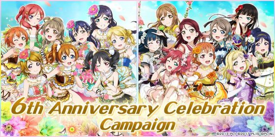 Love-Live-6th-Anniversary-Celebration-Campaign-SS-1-560x280 Love Live! School Idol Festival Celebrates Global Version's 6th Anniversary