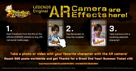 Dragon-Ball-Legends-AR-SS-1-560x293 DRAGON BALL LEGENDS Celebrates Second Anniversary With New Characters and Augmented Reality Facebook Camera App