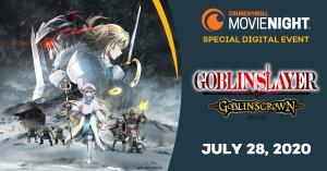 "Crunchyroll Announces U.S. Digital Premiere of ""GOBLIN SLAYER -GOBLIN'S CROWN-""!"