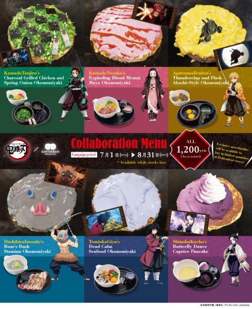 Kimetsu-no-Yaiba-EnglishMenu-500x612 Choose Your Favourite Demon Slayer: Kimetsu no Yaiba Character - on Okonomiyaki!