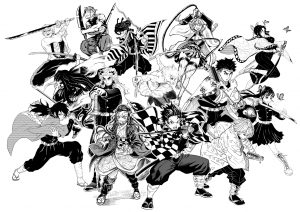 Yusuke Murata (One Punch Man) and 13 Manga Artists Had a Zoom Party and Made Awesome Demon Slayer Fanart!
