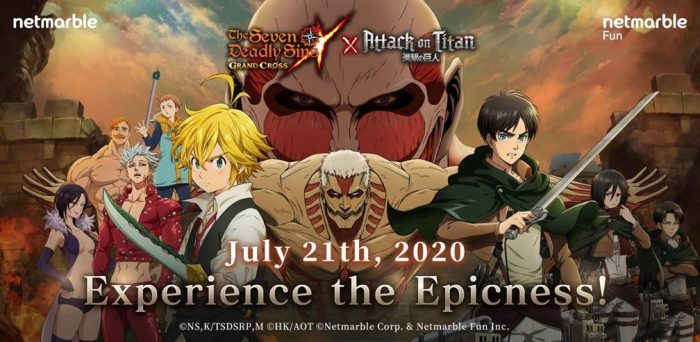 Seven-Deadly-Sins-Attack-on-Titan-Crossover-Promo-700x342 Hurry and Experience the Epicness of The Seven Deadly Sins: Grand Cross x Attack on Titan Collaboration!